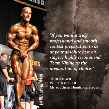 Tom Brown - WFF Class 1 Mr Southern Hemisphere 1st - 2014