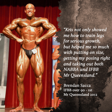 Brendan Sacca - IFBB Over 90 Mr Queensland 1st - 2012