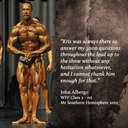 John Albergo - WFF Class 2 Mr Southern Hemisphere 1st - 2012