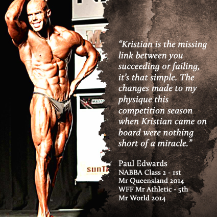 Paul Edwards - NABBA Class 2 Mr Queensland 1st - 2014