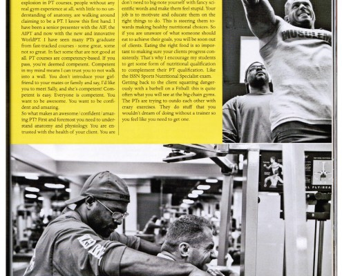 PT Industry Musclemag Article